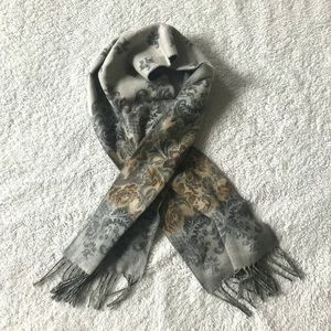 Croft & Barrow Soft Floral Fade Scarf Taupe Gray